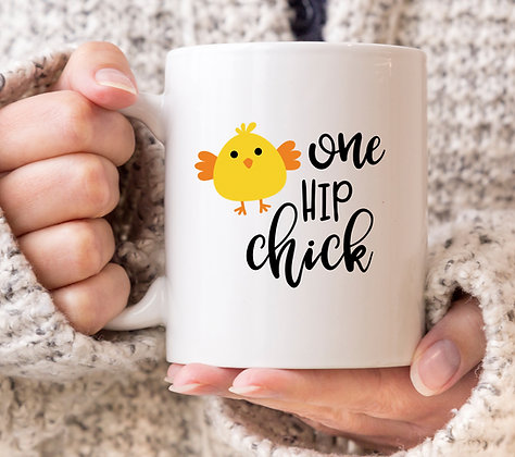 One Hip Chick Easter Mug