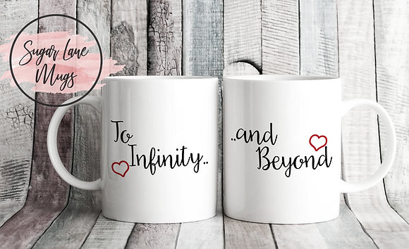 To Infinity and Beyond Toy Story Twinpack Mugs (x2)