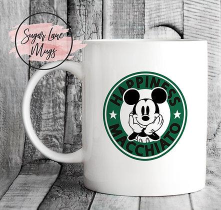 Happiness Macchiato Starbucks Style Mug