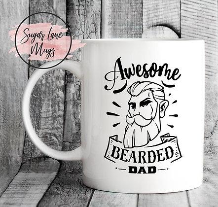 Awesome Bearded Dad Mug