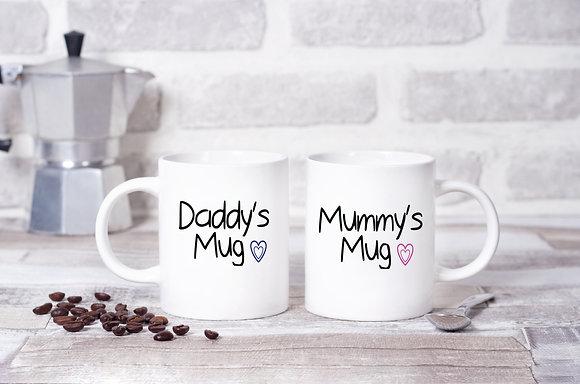 Mummy's Mug and Daddy's Mug Twinpack Mugs (x2)