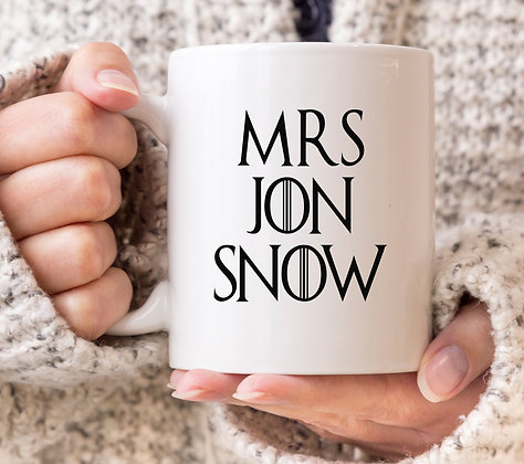 Mrs Jon Snow Game of Thrones Mug