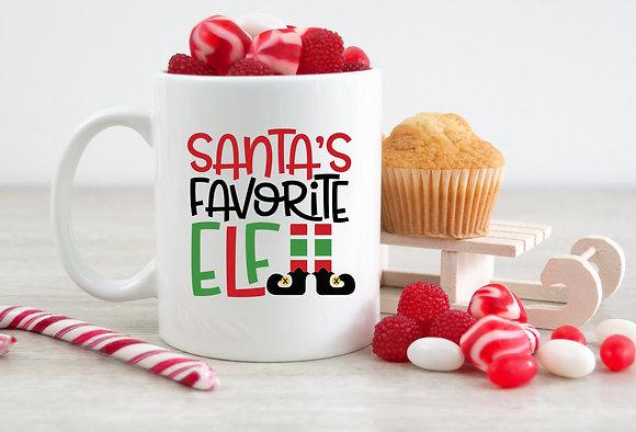 Santa's Favorite Elf Christmas Mug