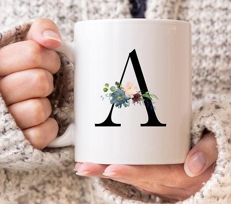 Dark Style Letter (any letter!) Mug
