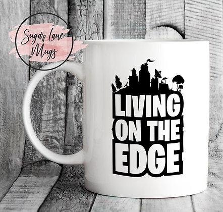Living On The Edge Fortnite Mug