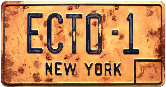 Ghostbusters Afterlife Ectomobile ECTO-1 License Plate