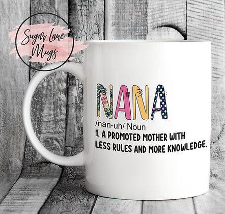 Nana Mothers Day Floral Mug