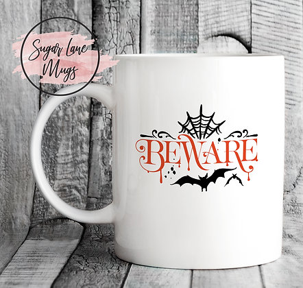 Beware Halloween Mug