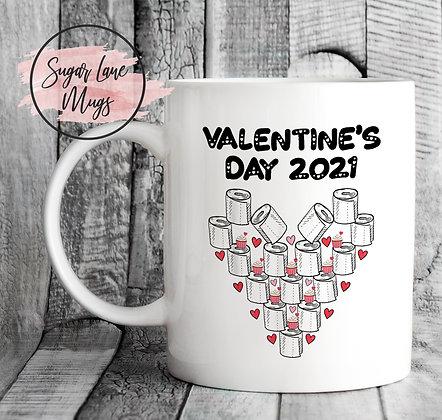 Valentines's Day Toilet Roll 2021 Mug