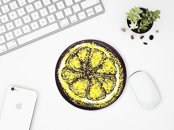 The Stone Roses Round Lemon Mouse Mat