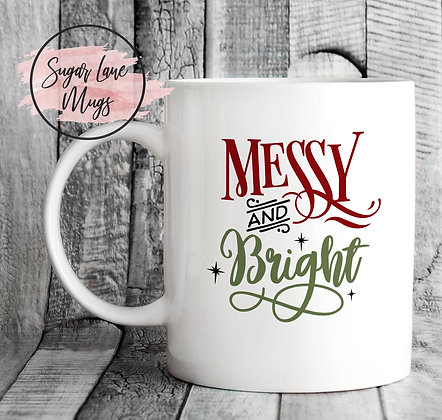 Messy and Bright Christmas Mug