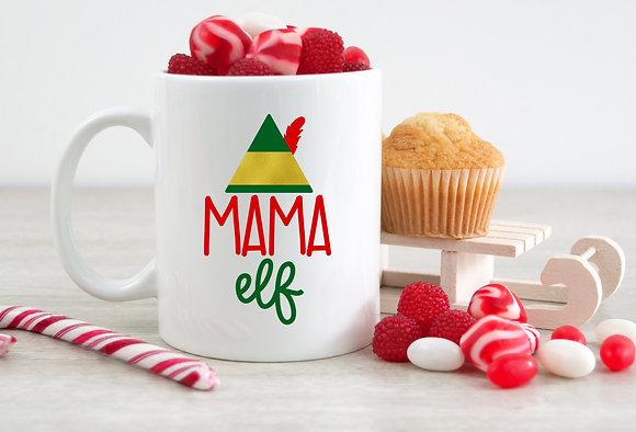 Mama Elf Christmas Mug