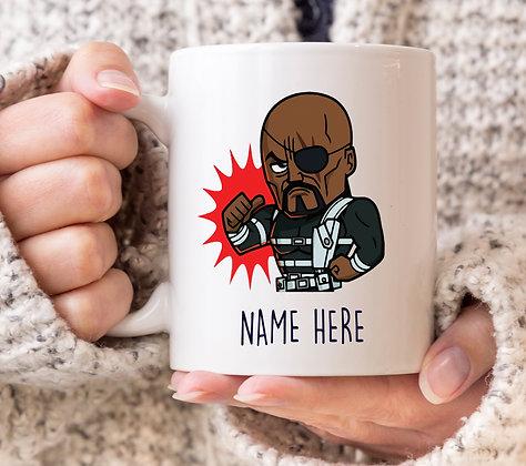 Nick Fury POW! Avengers Superhero Mug
