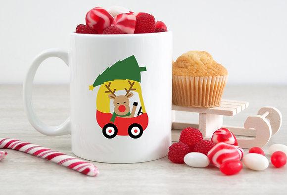 Reindeer Toy Car Christmas Mug