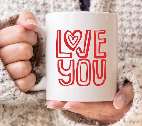 Love You Letters Valentines Mug