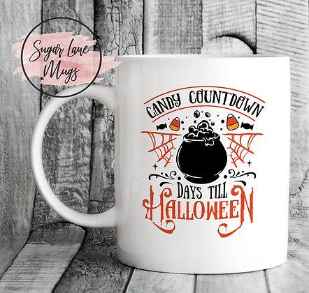 Candy Countdown Days Till Halloween Mug