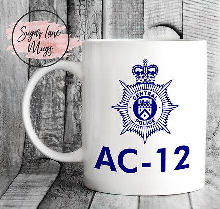 AC-12 Line of Duty Mug BLUE LOGO