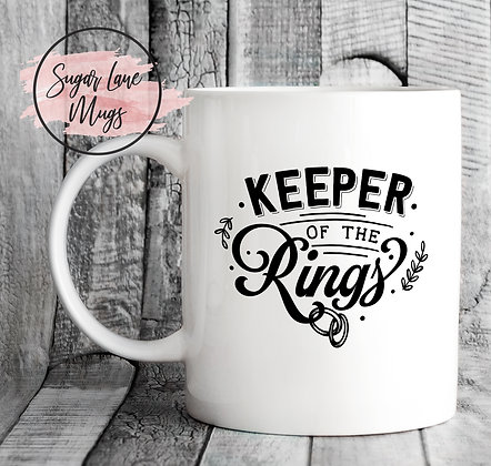 Keeper of the Rings Wedding Mug