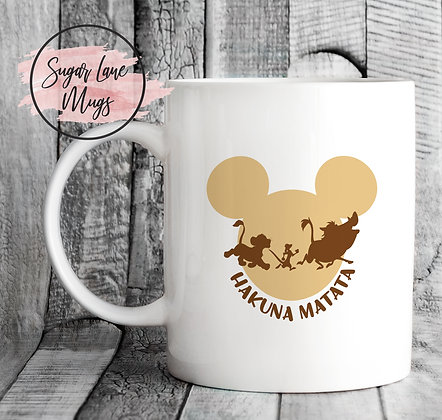 Hakuna Matata Lion King Mickey Mouse Inspired Mug