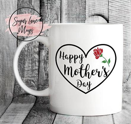 Happy Mothers Day Heart Mug