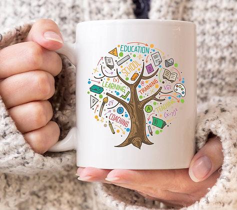 Teacher Learning Tree Mug