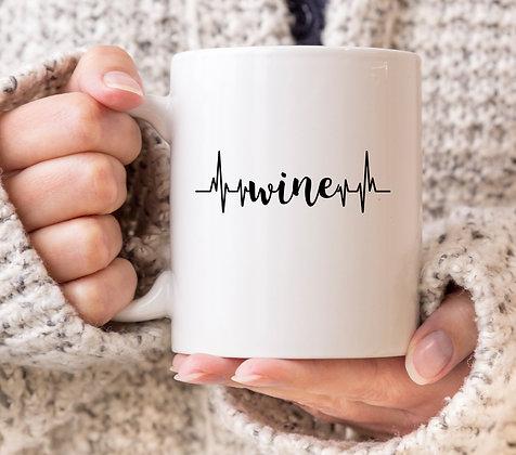Wine Heartbeat Grey's Anatomy Mug