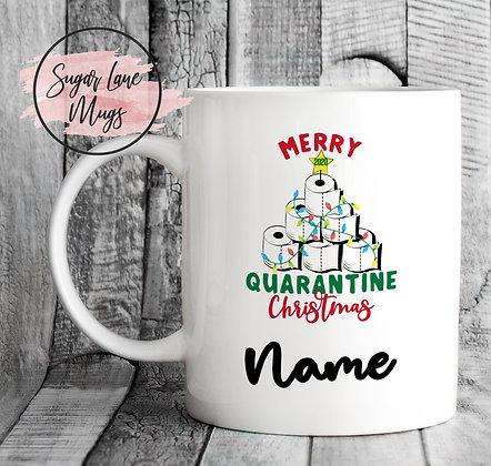 Custom Personalised 2020 Toilet Roll Christmas Mug