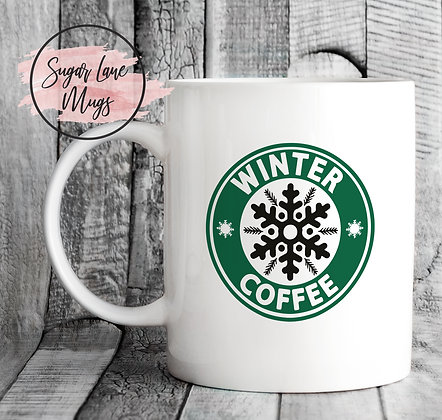 Winter Coffee Starbucks Style Mug