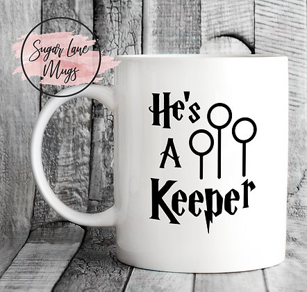 Hes a Keeper Harry Potter Mug