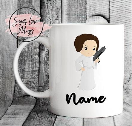 Custom Personalised Star Wars Princess Leia Mug
