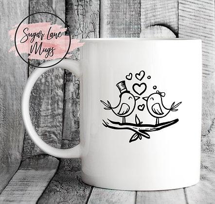 Love Birds Mr and Mrs Wedding Mug