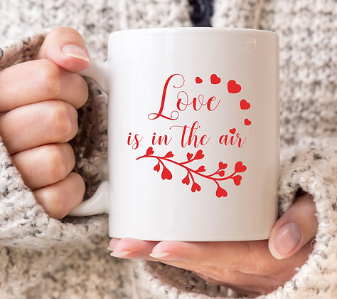 Love Is In The Air Valentines Mug