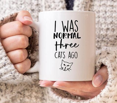 I Was Normal 3 Cats Ago Mug
