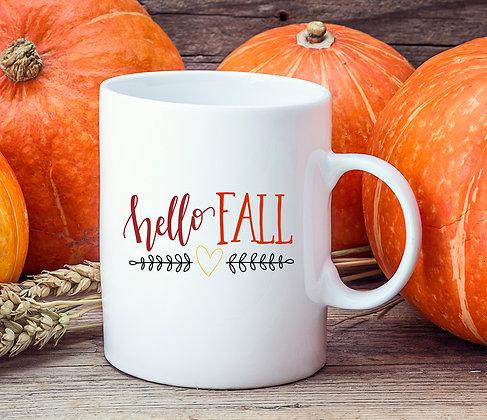 Hello Fall Winter Mug