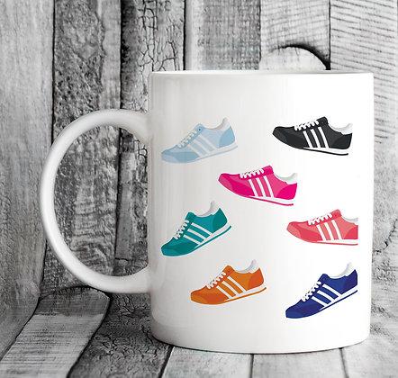 3 Stripes Wrap Around Watercolour Mug