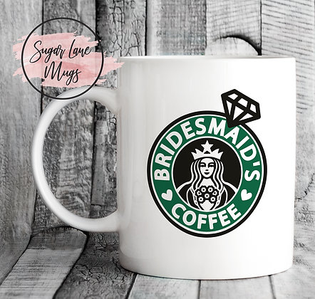 Bridemaid's Coffee Starbucks Style Mug