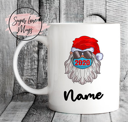 Custom Personalised Santa 2020 Mask Christmas Mug