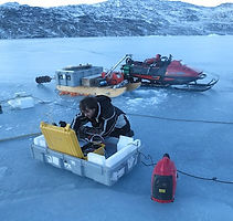Nolwenn is collecting data in Greenland during the winter for researchers using multiple instuments : CTD, ADCP, GPS