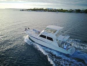 Cocorijo a 55 foot Hatteras boat.