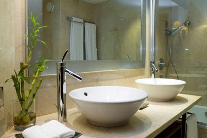 Banheiro com cuba de apoio. Fonte: ssra.com.br