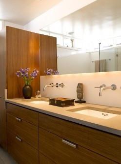 Banheiro com cuba de embutir. Fonte: www.simplesdecoracao.com.br