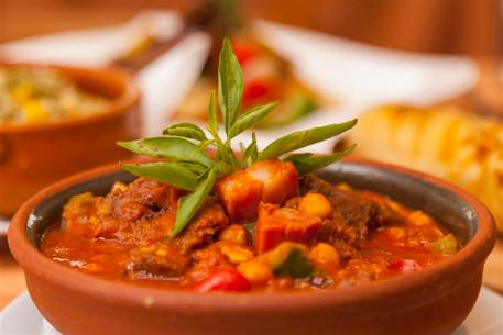Recocido asturiano con ternera y garbanz