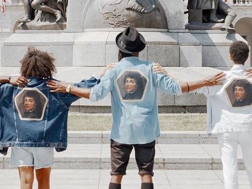 Akcja artystyczna pod pomnikiem Kościuszki, czyli Kos w XXI wieku