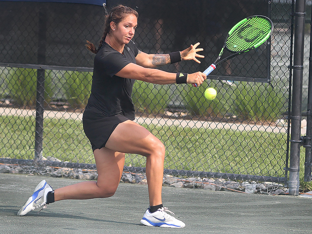Third seed and 2014 champion Katerina Stewart, 20, won a tough three-setter over second-seeded 19-year-old Ashley Kraster 3-6, 6-3, 6-0 to advance to the finals of the eighth ResortQuest Pro Women's Open at Sea Colony - a $25,000 USTA Pro Circuit event, held on the resort's clay courts. The eight-day tournament concludes Sunday with the singles finals, which starts at 9 a.m. Admission is free and the public is invited.