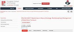Neuro-Oncology: multidisciplinary management of adult brain tumour - Session 3 - Rare tumours