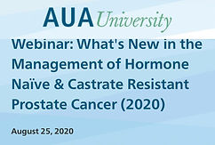#AUA20 Summer Series -What's New in the Management of Hormone Naïve & Castrate Resistant Prostate Cancer (2020)