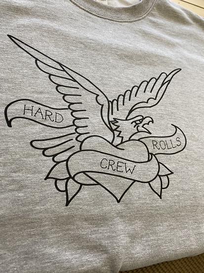 Hard rolls crew sweater
