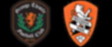 Grange Thistle and Brisbane Raor logos