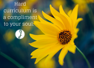 Hard curriculum is a compliment to your soul.