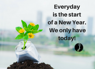 Everyday is the start of a New Year